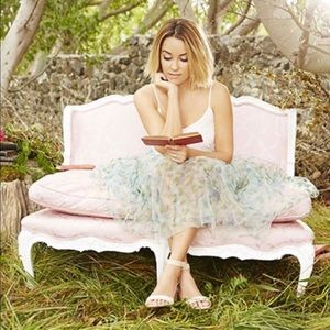 LC Lauren Conrad Watercolor Floral Tulle Skirt